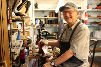 Chris Kydes, 77, is in his 45th year of heading his family-run business, Wilton Shoemaker.