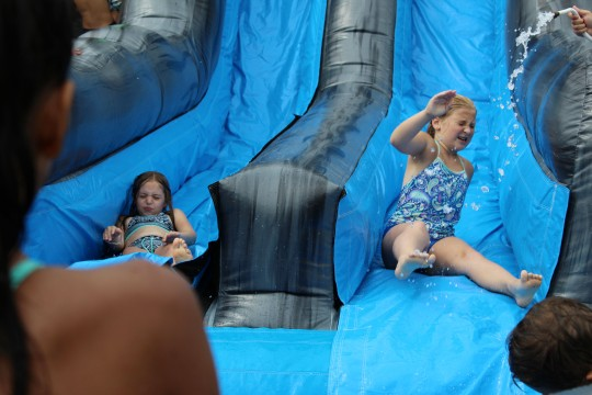 Children enjoy Wilton Parks and Recreation's Camp Looper on Tuesday, Aug. 15, 2017.