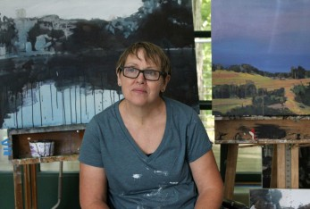 Fine art painter Mary Vaughan spent two seeks in September as Weir Farm's artist-in-residence.